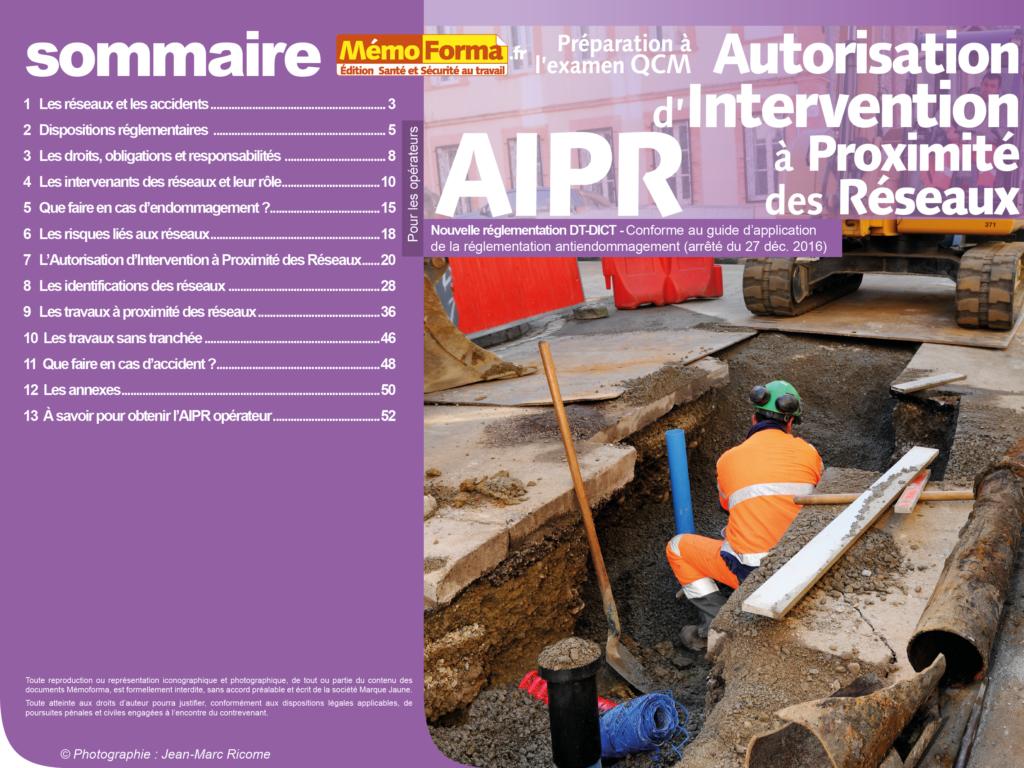 Support formateur – Préparation à l'examen CQM Autorisation d'Intervention à Proximité des Réseaux pour les opérateurs - MémoForma.fr