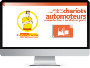 Formation en ligne e-MémoForma – Conduite en sécurité des chariots automoteurs de manutention à conducteur porté - MémoForma.fr