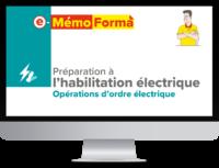 Formation en ligne e-MémoForma – Préparation à l'habilitation électrique - MémoForma.fr
