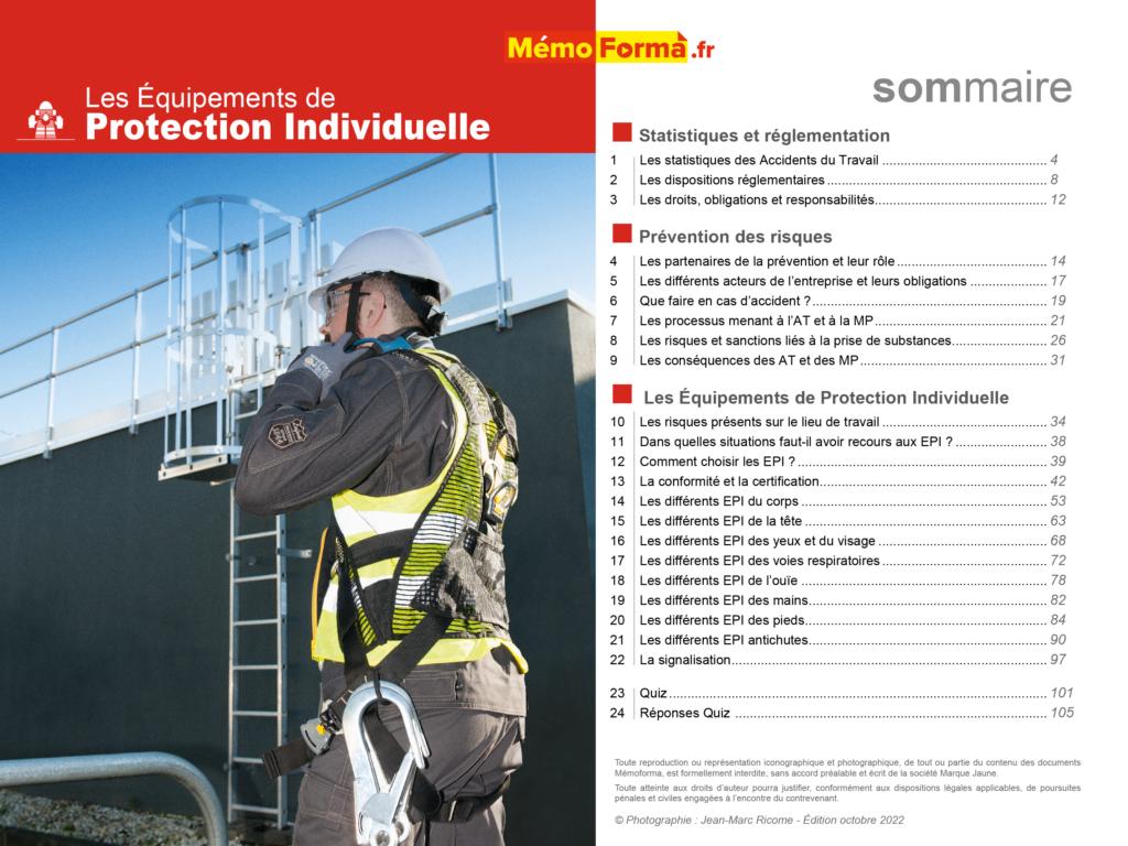 Support formateur – Les Équipements de Protection Individuelle- MémoForma.fr