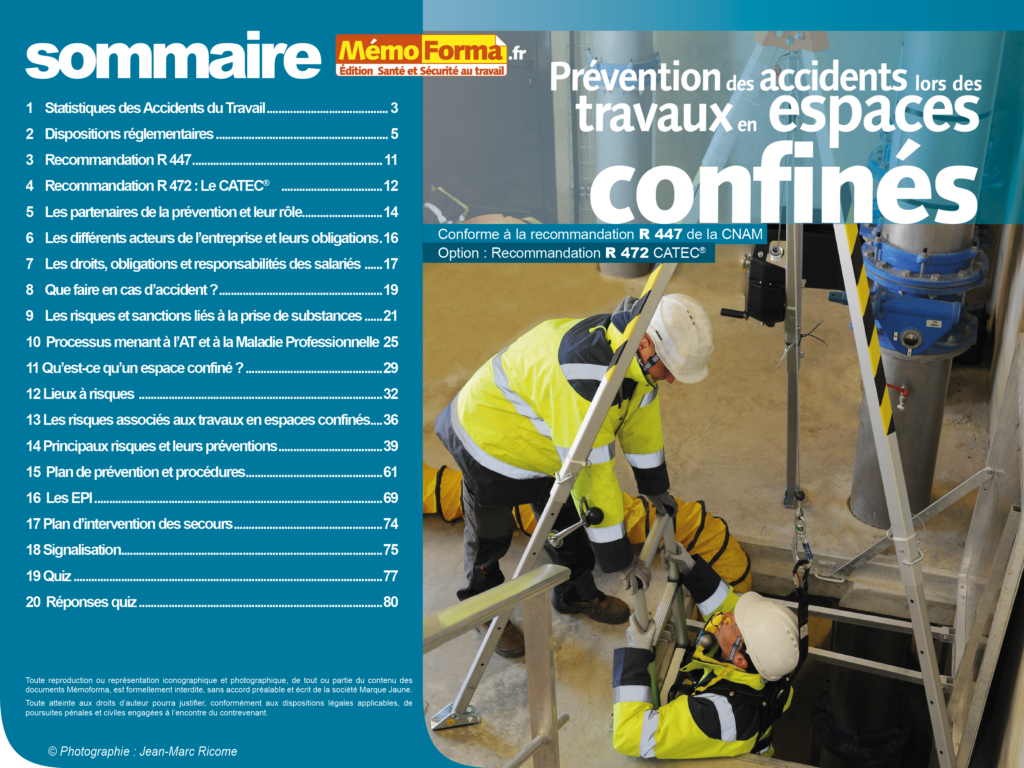 Support formateur – Prévention des accidents lors des travaux en espaces confinés - MémoForma.fr