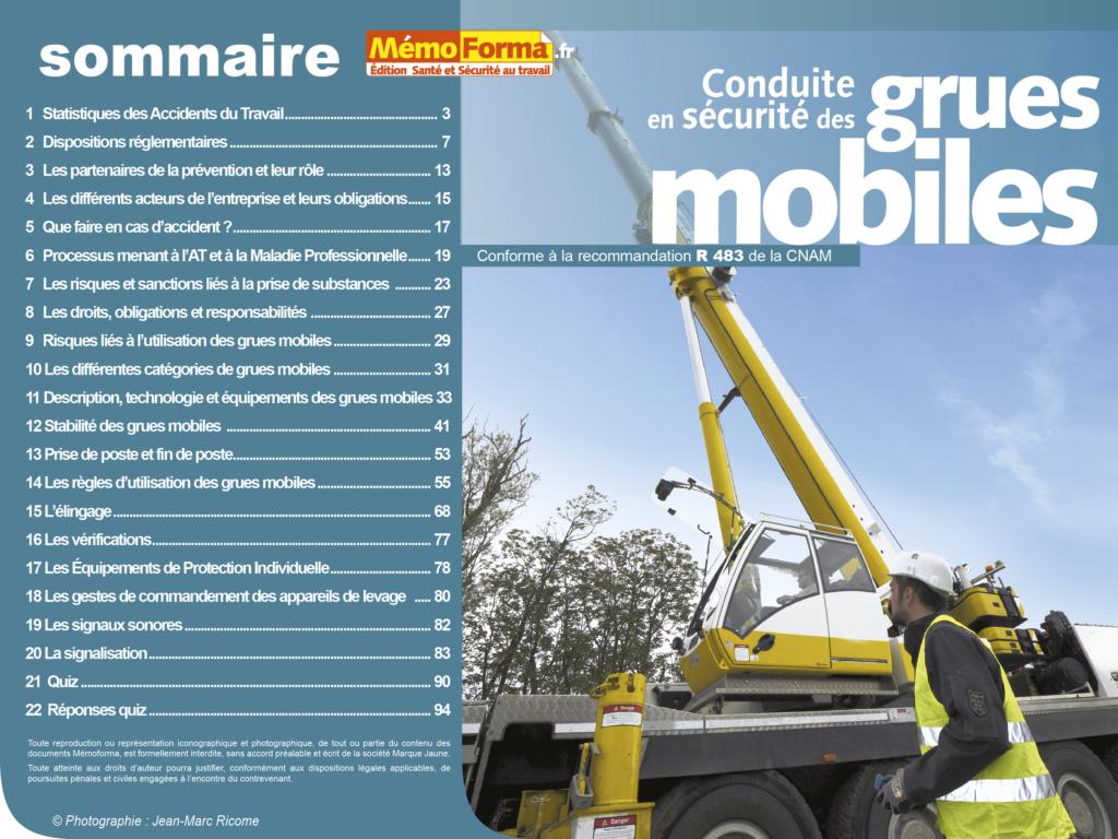 Support formateur – Conduite en sécurité des grues mobiles - MémoForma.fr