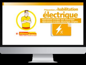 Formation en ligne e-MémoForma – Préparation à l'habilitation électrique pour les opérations d'ordre non électrique - MémoForma.fr