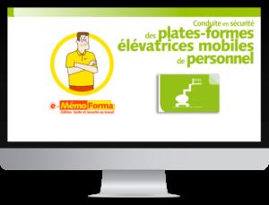 Formation en ligne e-MémoForma – Conduite en sécurité des plates-formes élévatrices mobiles de personnel - MémoForma.fr