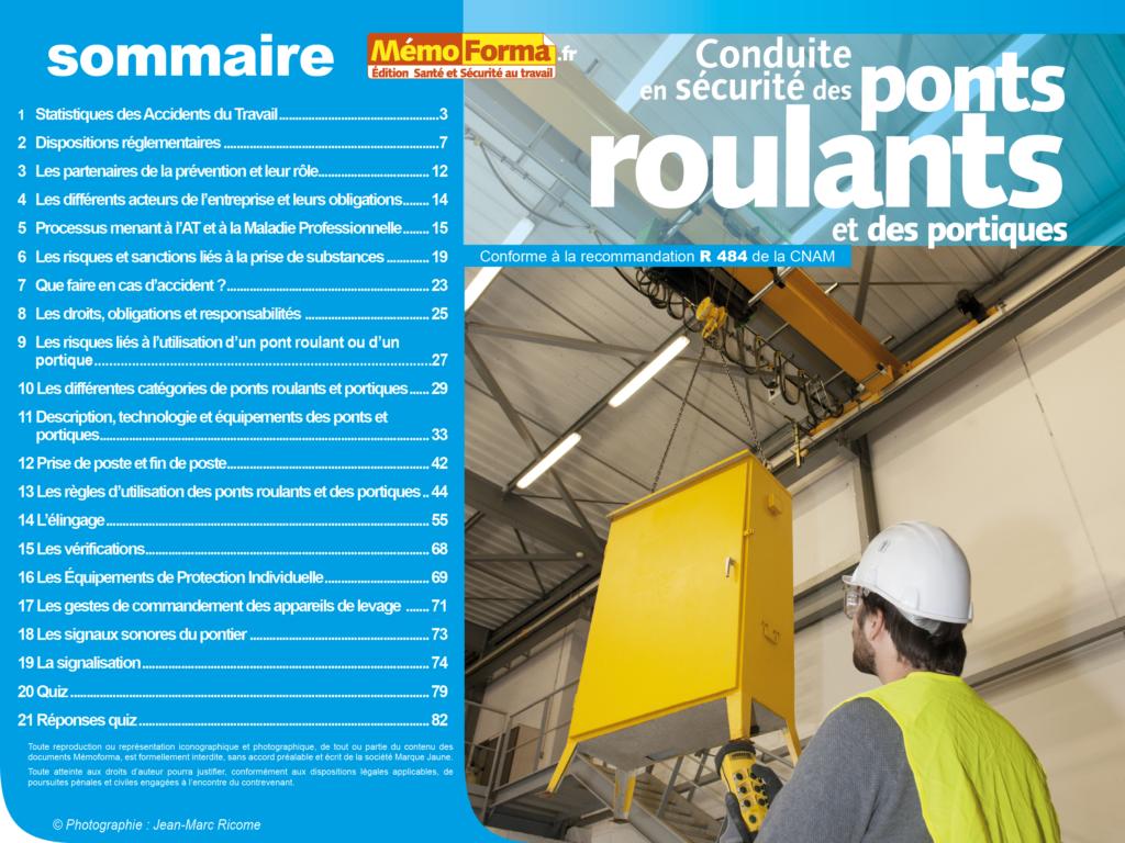 Support formateur – Conduite en sécurité des ponts roulants et des portiques - MémoForma.fr