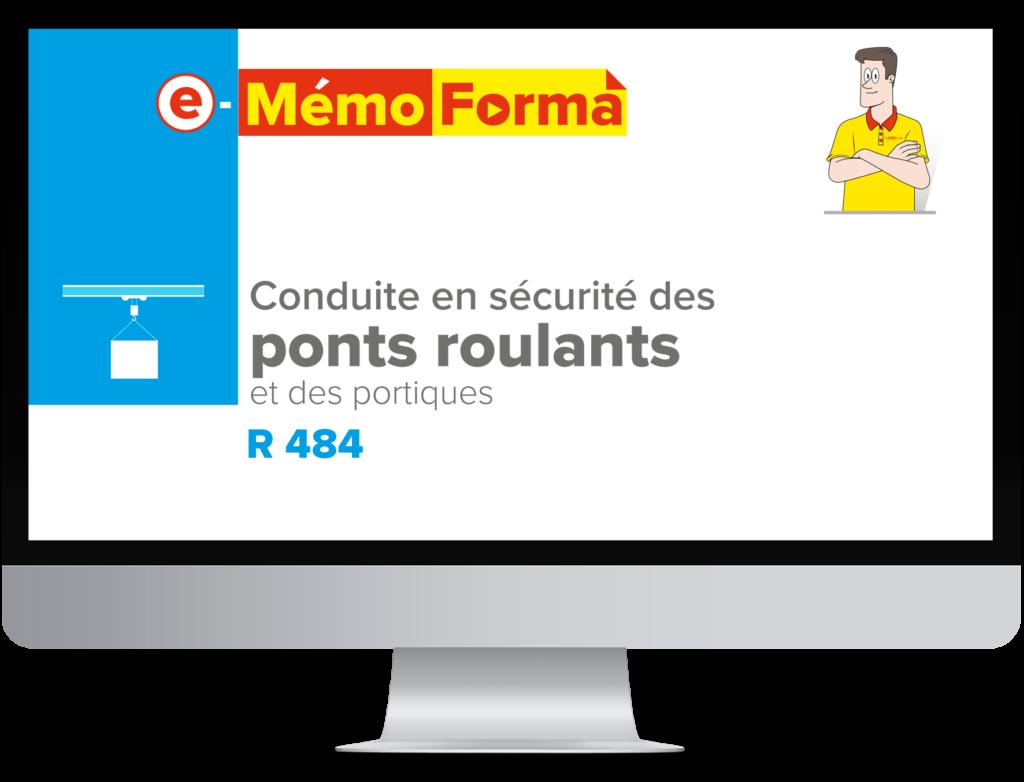 Formation en ligne e-MémoForma – Conduite en sécurité des ponts roulants et des portiques - MémoForma.fr