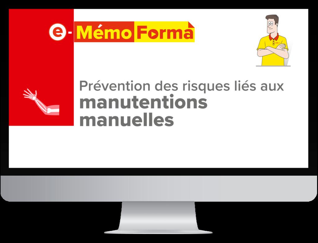 Formation en ligne e-MémoForma – Prévention des risques liés aux manutentions manuelles - MémoForma.fr