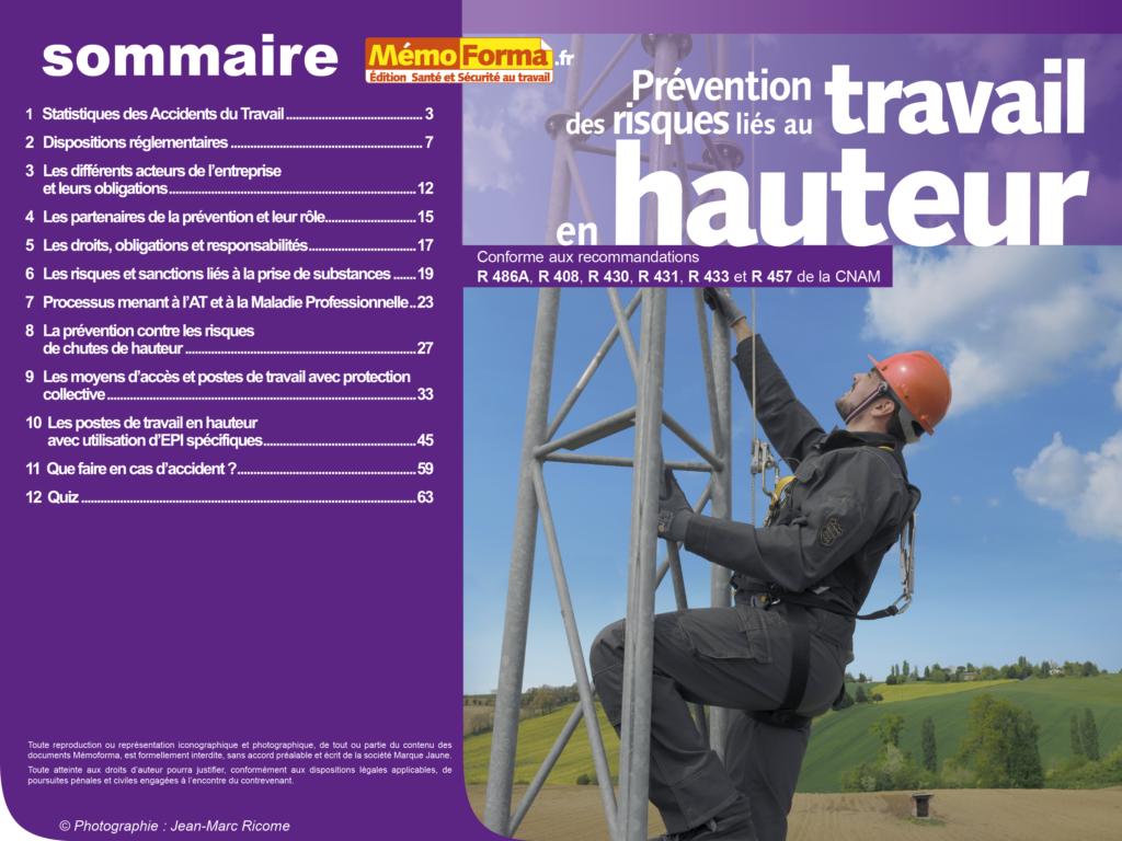 Support formateur – Prévention des risques liés au travail en hauteur - MémoForma.fr